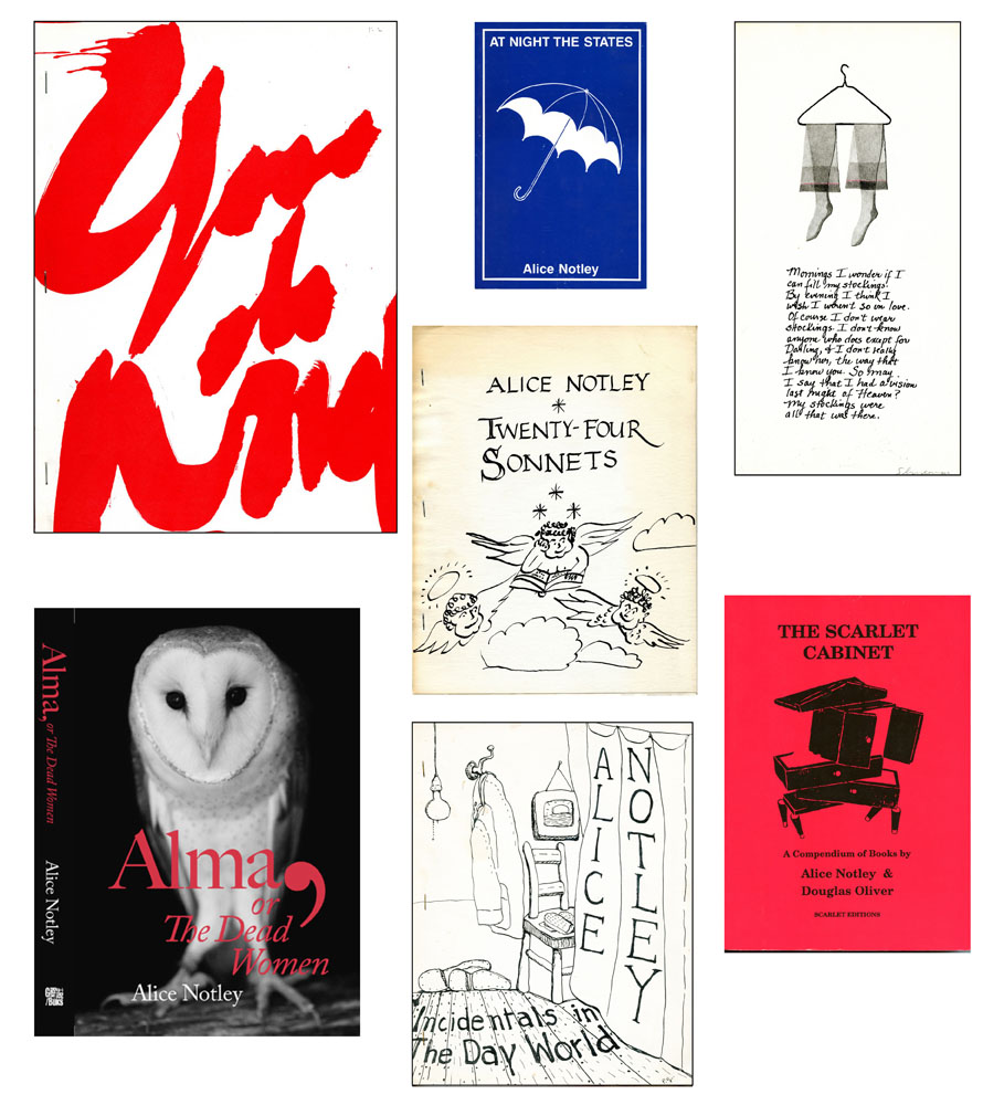 Alice Notley Selected Publications