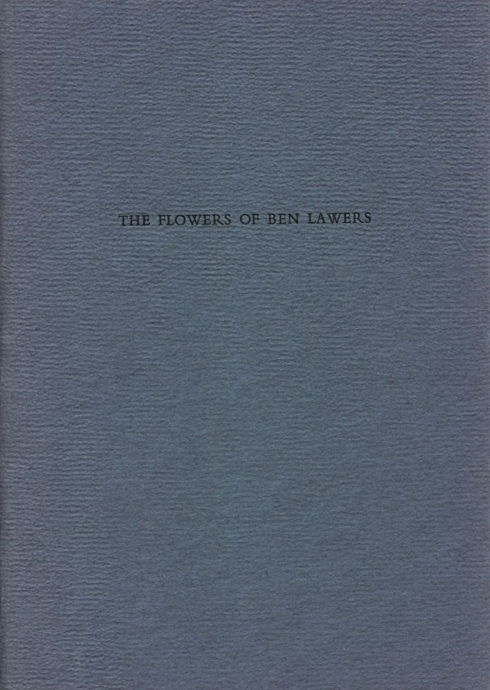The Flowers of Ben Lawers. Thomas A. Clark. Moschatel Press. 1989.