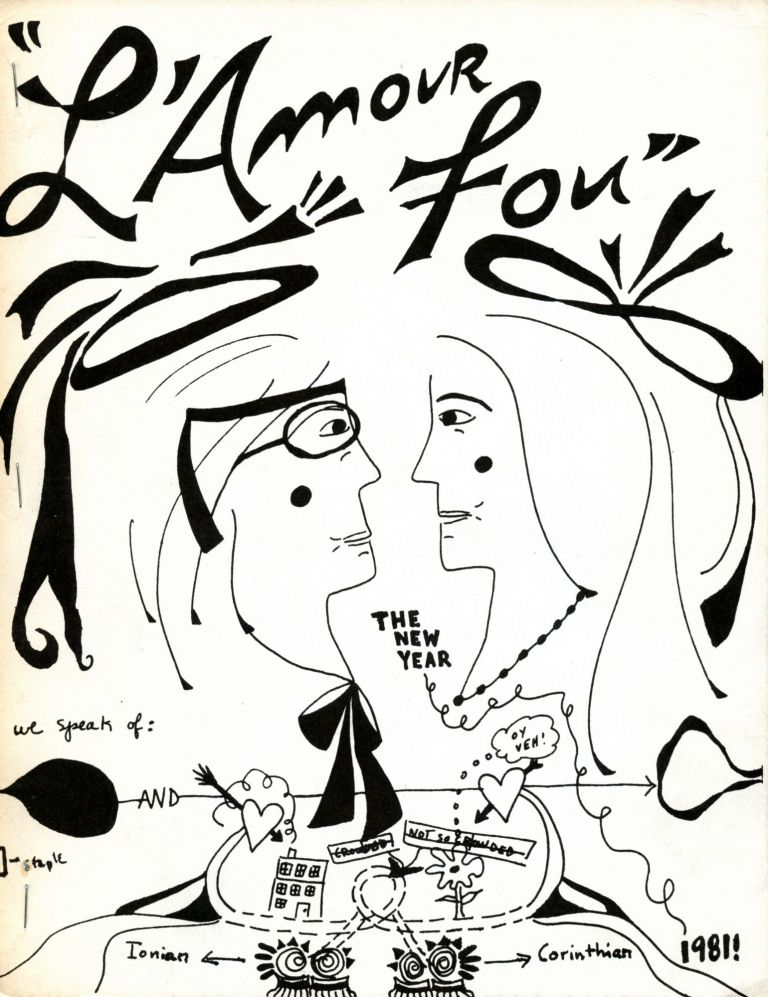 L'Amour Fou. Bernadette Mayer, Lewis Warsh. [Bernadette Mayer and Lewis Warsh]. 1981.