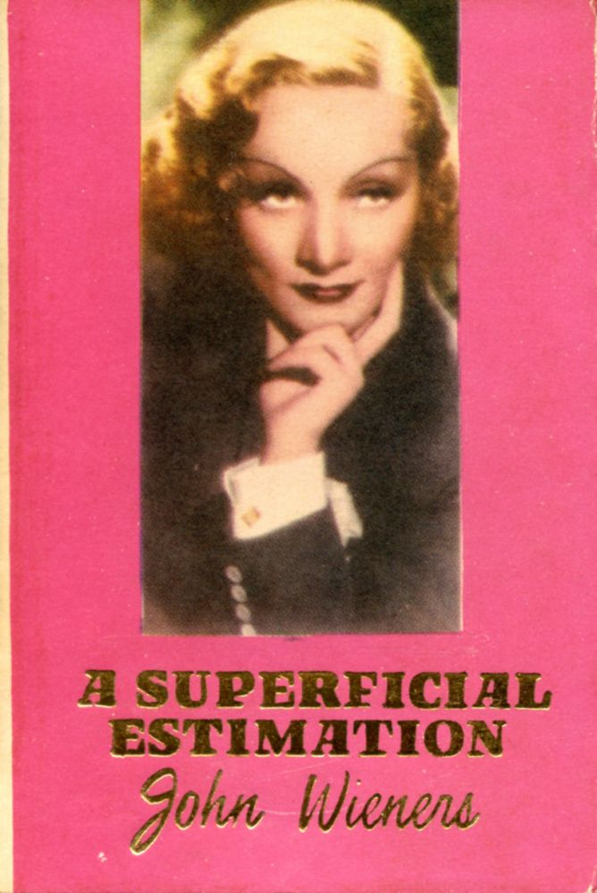 A Superficial Estimation. John Wieners. Hanuman Books. 1986.