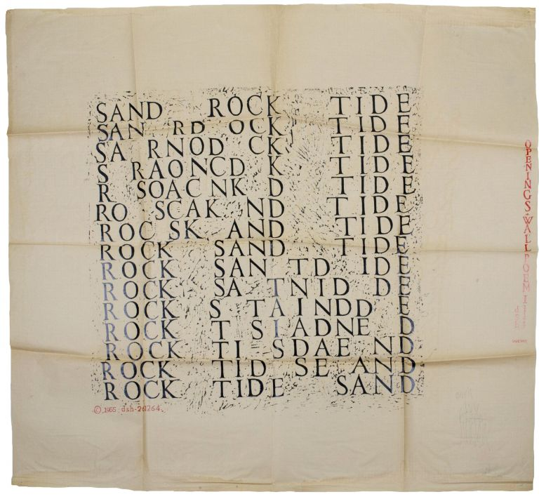 Sand Rock Tide. dsh, Dom Sylvester Houédard. Openings Press. 1964.