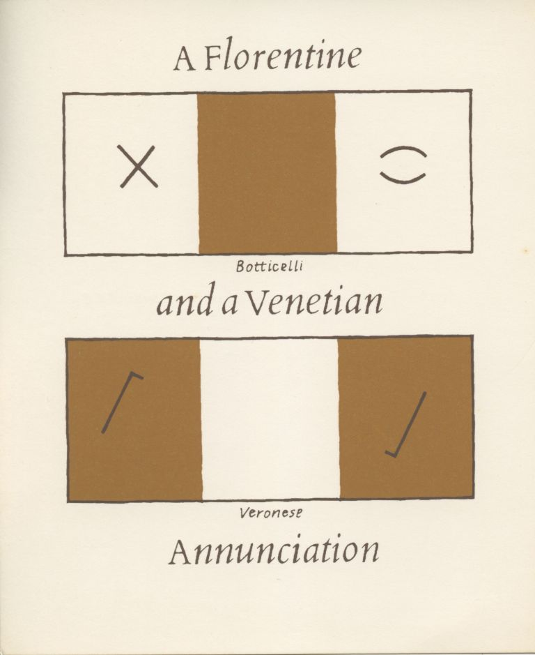 A Florentine and a Venetian Annunciation. Stephen Bann. Coracle Press. [1975].