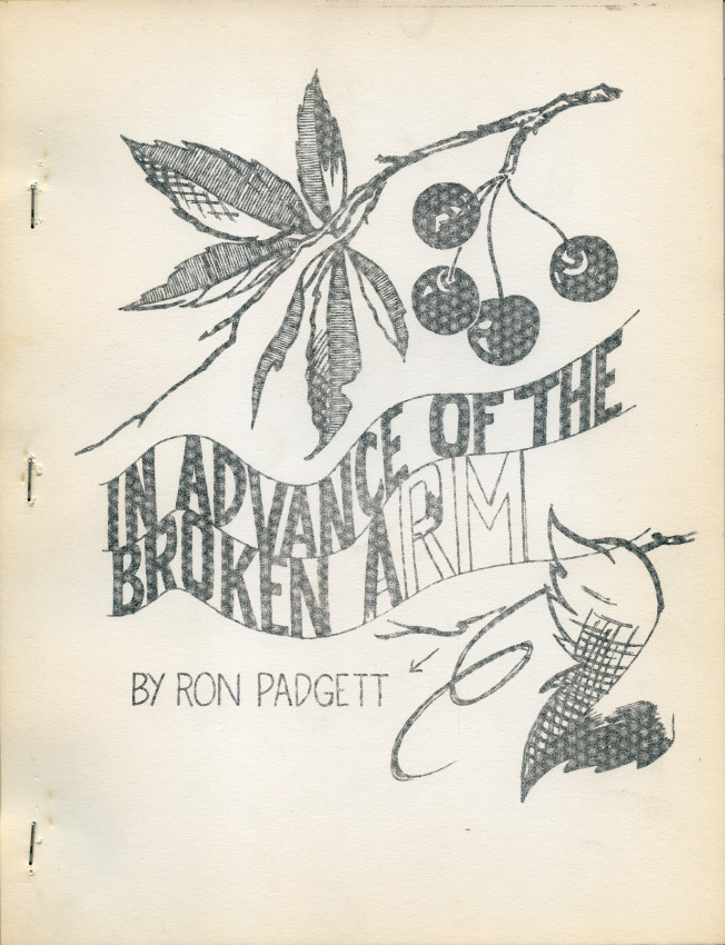 In Advance of the Broken Arm. Ron Padgett. Lorenz Gude. 1964.