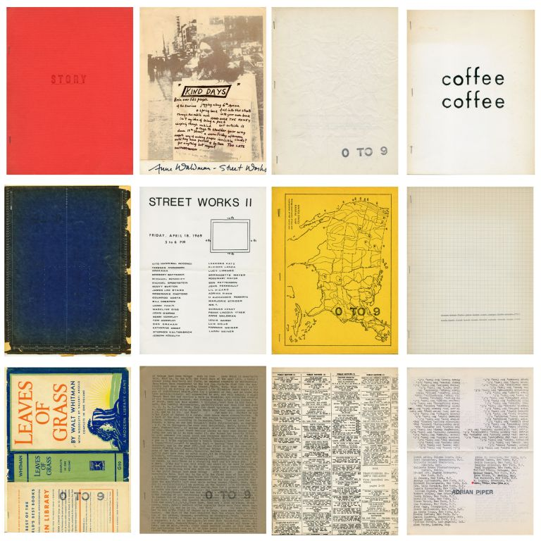 0 to 9. [Comprehensive collection of magazine and books.]. Vito Hannibal Acconci, eds Bernadette Mayer. 0 to 9. 1967–1969.
