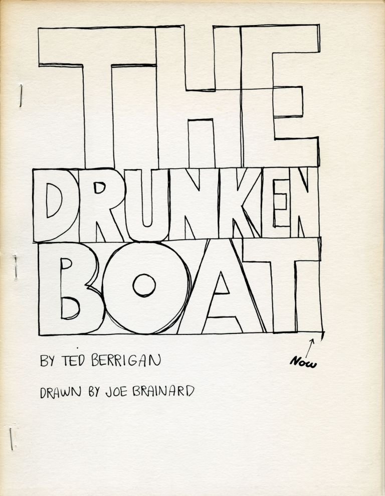 The Drunken Boat. Ted Berrigan. [Adventures in Poetry]. [1974].