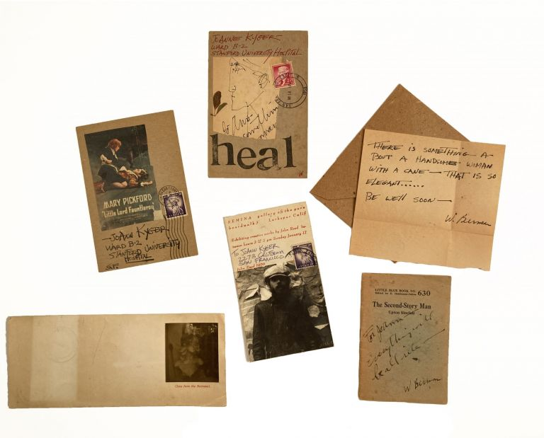 [Postcards and notes to Joanne Kyger]. Wallace Berman.