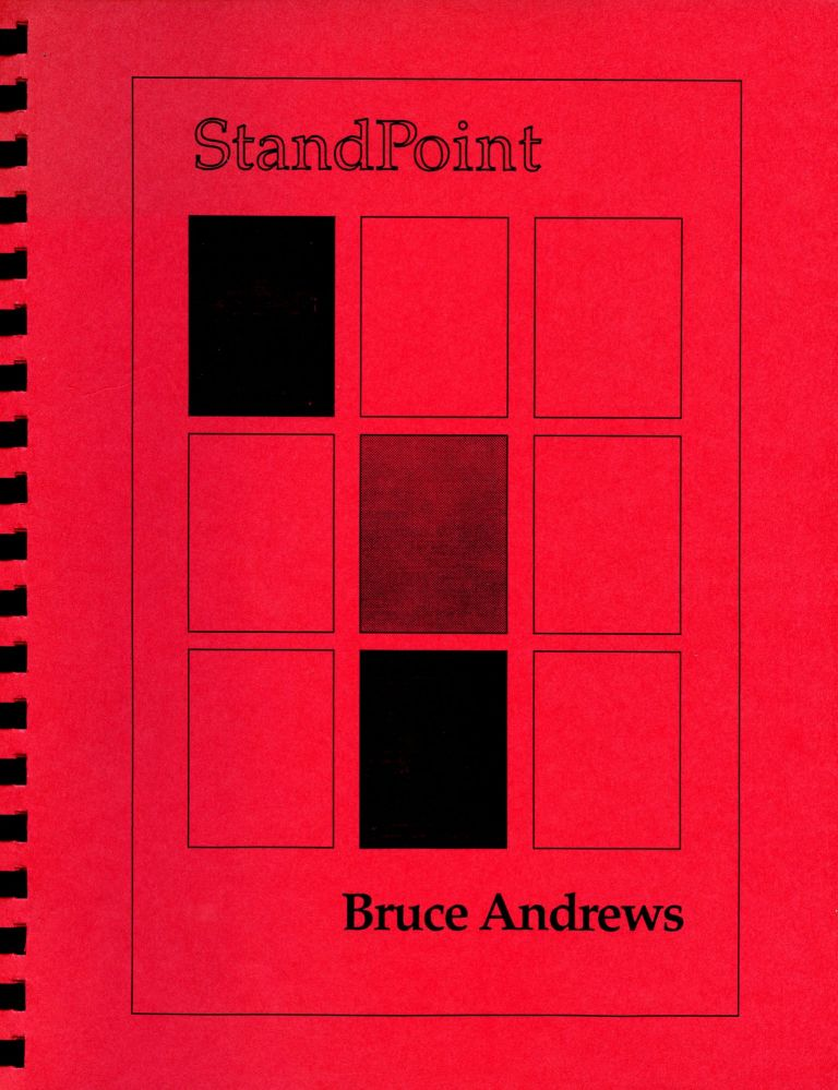 StandPoint. Bruce Andrews. Score Publications. [1991].