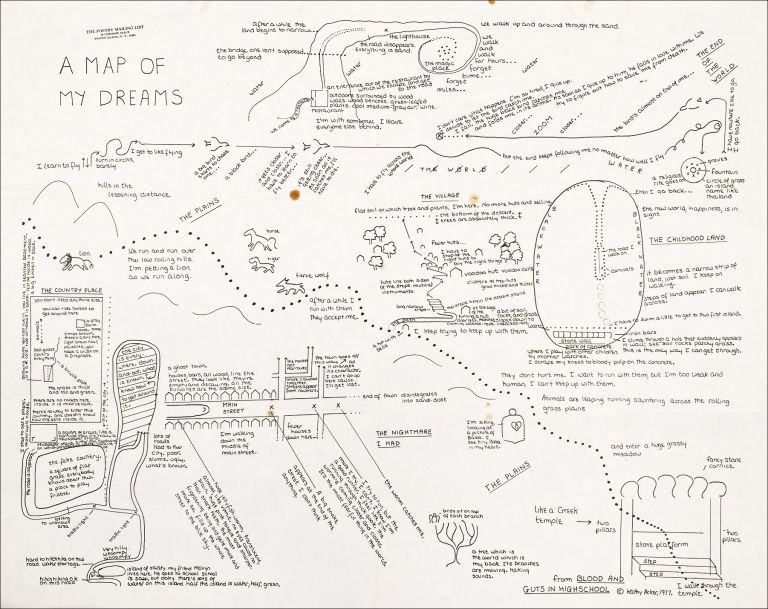 A Map of My Dreams. Kathy Acker. The Poetry Mailing List. 1977.