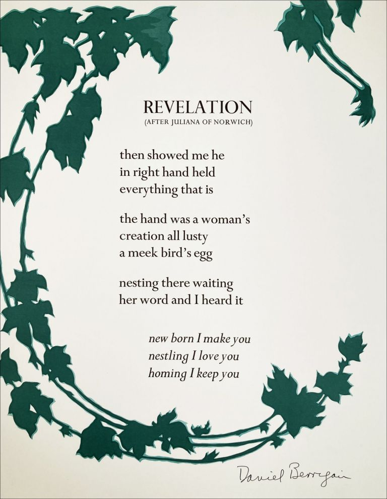 Revelation (after Juliana of Norwich). Daniel Berrigan. N.p. n.d.