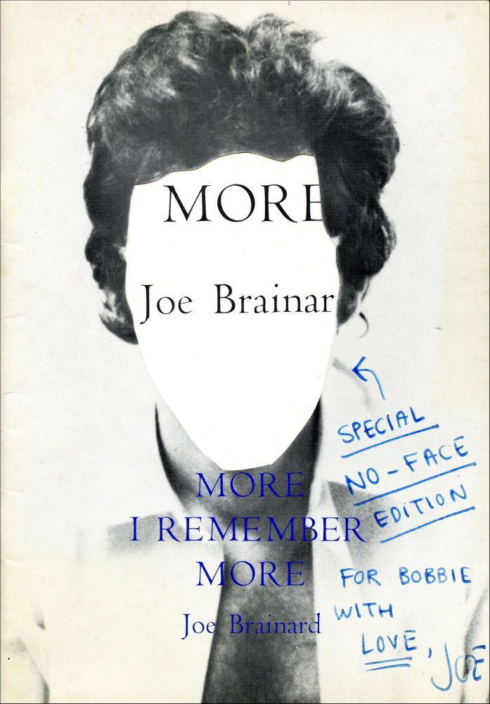 More I Remember More. Joe Brainard. Angel Hair Books. 1973.