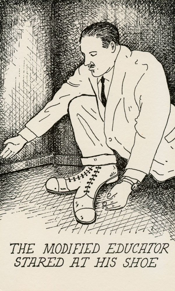 The Modified Educator Stared at His Shoe. Ron Padgett, Glen Baxter. The Alternative Press. 1978.