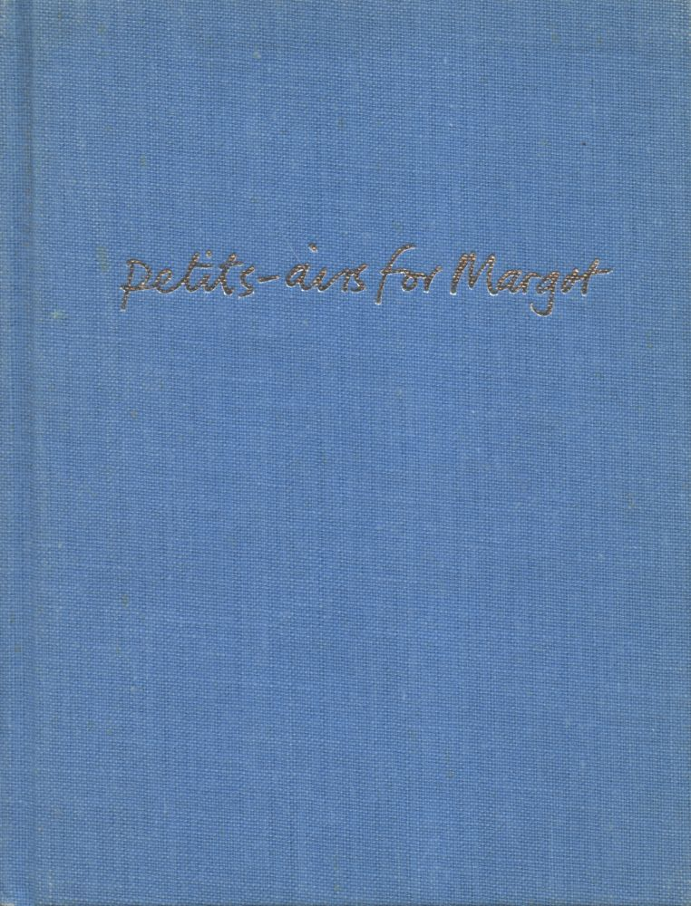Petits-airs for Margot. Simon Cutts. Coracle Press. 1986.