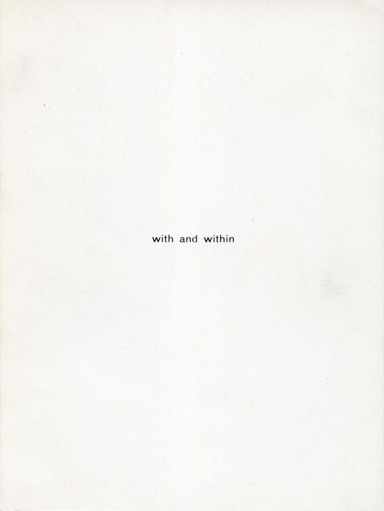 With and Within. Colin Sackett. Coracle Press. 1984.