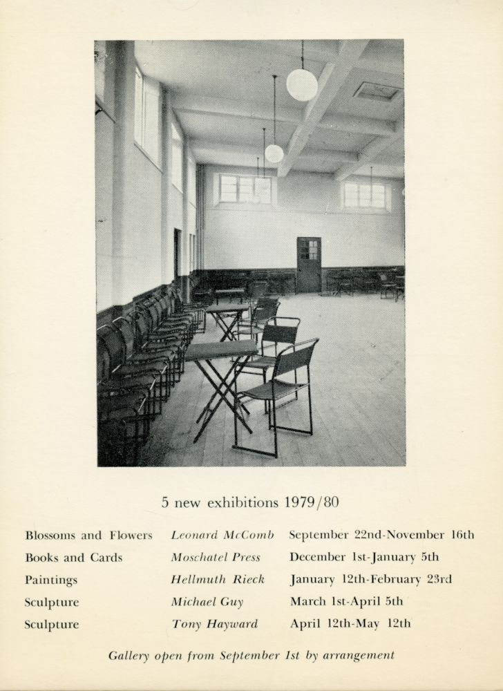 5 New Exhibitions 1979/80. Coracle Press. Coracle Press. 1979.