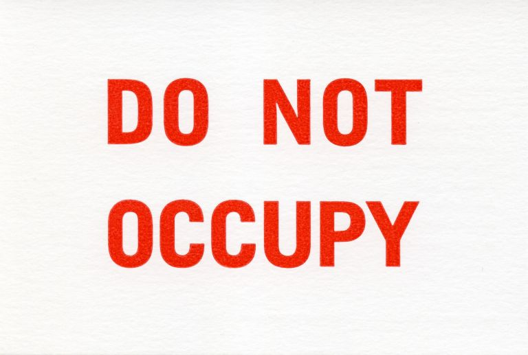 Do Not Occupy. Coracle Press. Coracle Press. 2016.