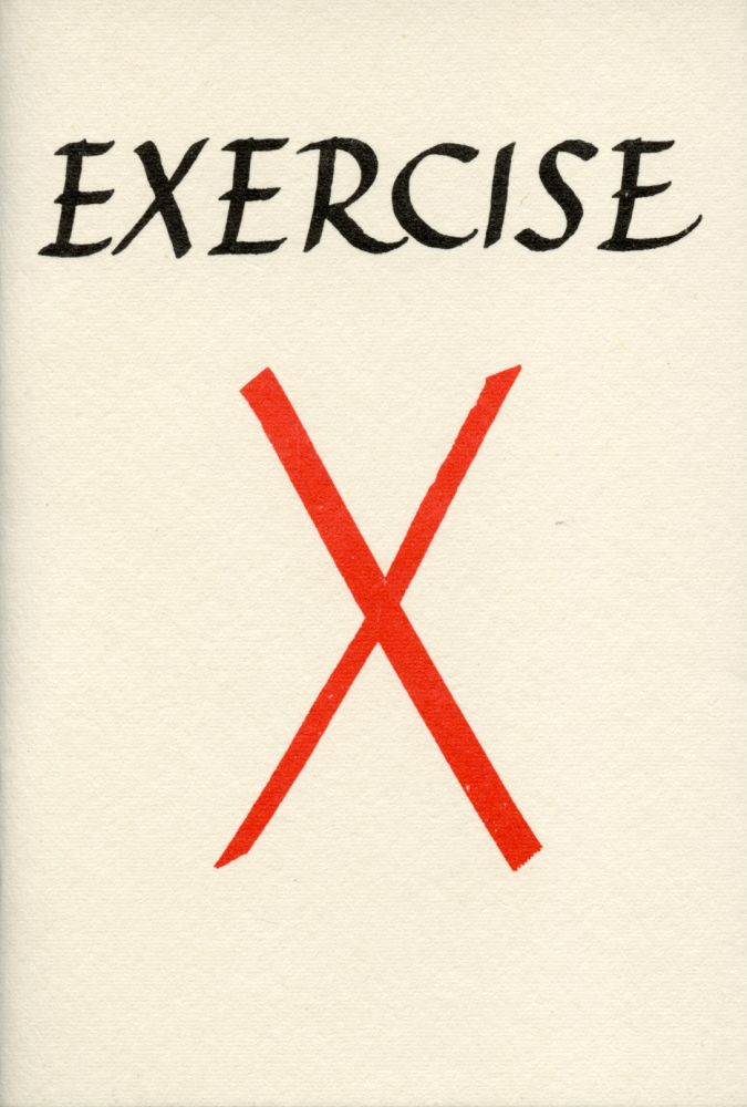 Exercise X. Ian Hamilton Finlay, George L. Thomson. Wild Hawthorn Press. 1973.