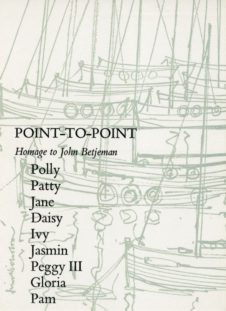 Point-to-Point. Ian Hamilton Finlay, Jim Nicholson. Wild Hawthorn Press. 1969.