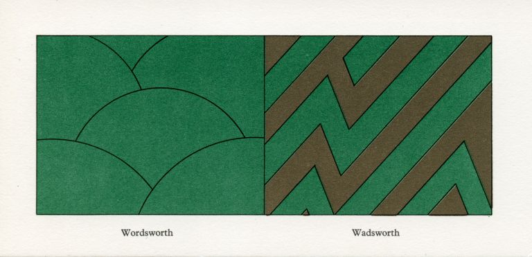 Wordsworth / Wadsworth. Ian Hamilton Finlay, Jim Downie. Wild Hawthorn Press. [1977].