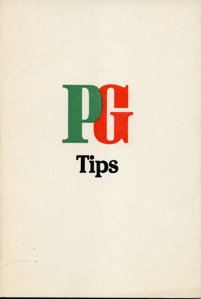 PG Tips. Simon Cutts. Coracle Press. 1981.