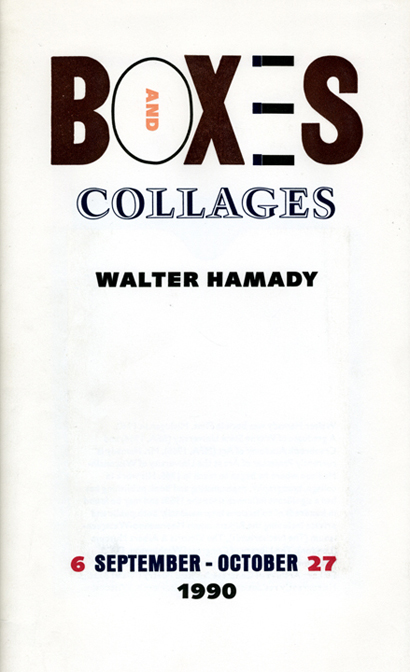 Boxes and Collages. Walter Hamady, Steven Clay. Granary Books. 1990.