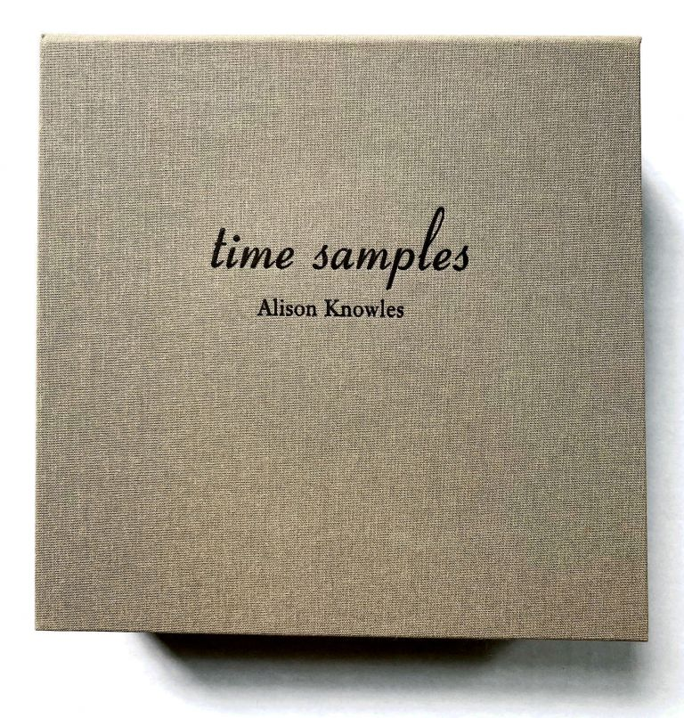 Time Samples. Alison Knowles. Granary Books. 2006.