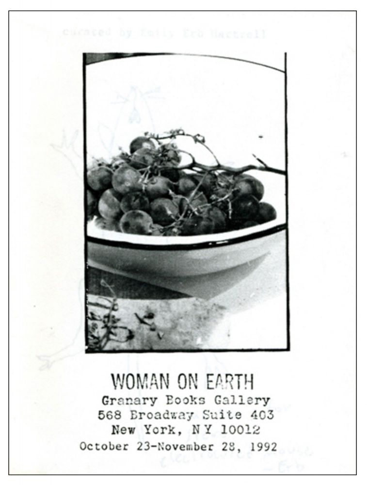 Woman on Earth. Emily Erb Hartzell. Granary Books. 1992.