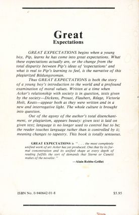 Great Expectations. Kathy Acker. Re/Search. 1978.