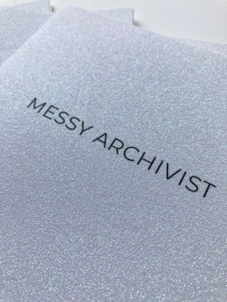 Messy Archivist (saddle-stitched). M. C. Kinniburgh. TKS. 2020.