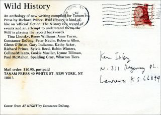 Wild History (announcement card). Richard Prince, ed. Tanam Press. [1985].