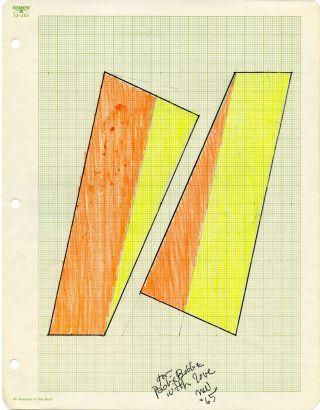 [Two untitled drawings]. Neil Williams. 1965.